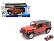 2015 Jeep Wrangler Unlimited Orange Copper 1/24 Scale Diecast Car Model By Maisto 31268