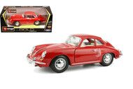 1961 Porsche 356B Coupe Red 1/18 Scale Diecast Car Model By Bburago 12026