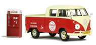 1963 Volkswagen Type 2 T1 Pickup With Vending Machine Coca Cola Coke 1/24 Scale Diecast Model By Motor City Classics 424063