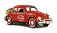 1966 Volkswagen Beetle With Rack & Bottles Coca Cola 1/24 Diecast Model By Motor City Classics  424067