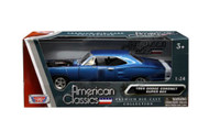 1969 Dodge Coronet Super Bee Blue 1/24 Diecast Car Model By Motor Max 73315