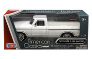 1979 Ford F-150 Pickup Truck White 1/24 Scale Diecast Model By Motor Max 79346