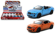 2010 Bentley Continental Super Sports Convertible Box Of 12 1/38 Scale By Kinsmart KT5353D