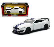 2016 Ford Mustang Shelby GT350R White 1/24 Scale Diecast Car Model By Newray 71833