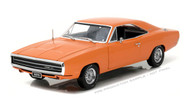 1970 Dodge Charger 500 HEMI Orange 1/18 Scale Diecast Car Model By Greenlight Artisan 19028