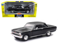 1964 Chevrolet Nova SS Black 1/25 Scale Diecast Car Model By Newray 71823