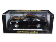 1966 Shelby Mustang GT350H Hertz Black With Racing Wheels 1/18 Scale Diecast Car Model By Shelby Collectibles SC 360