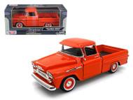 1958 Chevrolet Apache Fleetside Pick Up Truck Orange 1/24 Scale Diecast Model By Motor Max 79311