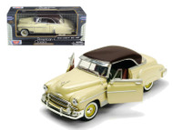 1950 Chevrolet  Bel Air Beige 1/24 Scale Diecast Car Model By Motor Max 73268