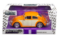 1959 VW Volkswagen Beetle Bug 2 Tone 1/24 Scale Diecast Car Model By Jada 99019