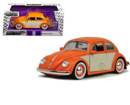 1959 VW Volkswagen Beetle Bug 2 Tone 1/24 Scale Diecast Car Model By Jada 99051