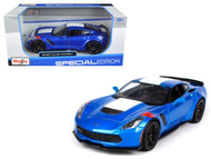 2017 Chevrolet Corvette Grand Sport Blue 1/24 Scale Diecast Car Model Maisto 31516
