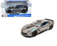 2017 Chevrolet Corvette Grand Sport Grey 1/24 Scale Diecast Car Model Maisto 31516