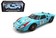 1966 Ford GT-40 MK II #1 Light Blue 1/18 Scale Diecast Car Model By Shelby Collectibles SC 411