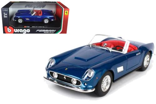 Ferrari 250 GT California Spider Blue 1/24 Diecast Car Model By Bburago 26020
