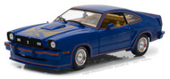 1978 Ford Mustang II King Cobra Blue 1/18 Scale Diecast Car Model By Greenlight 13507
