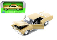 1965 Buick Riviera Gran Sport Gold 1/24 Scale Diecast Car Model By Welly 24072