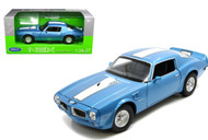 1972 Pontiac Firebird Trans AM Blue  1/24 Scale Diecast Car Model By Welly 24075