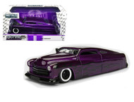 1951 Mercury With Flame Purple 1/24 Scale Diecast Car Model By Jada 99061