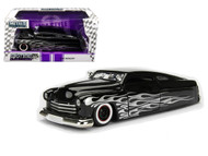 1951 Mercury With Flame Black 1/24 Scale Diecast Car Model By Jada 99060