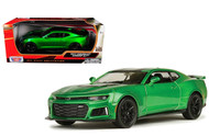 2017 Chevrolet Camaro ZL1 Metallic Green 1/24 Scale Diecast Car Model By Motor Max 79351
