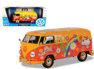 Volkswagen Type 2 T1 Delivery Van Flower Power 1/24 Scale Diecast Model By Motor Max 79563