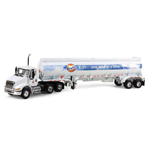 International 8600 Gulf With 42' Fuel Tanker Trailer 1/64 Scale By First Gear 69-0290