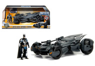 Justice League Batmobile & Diecast Batman Figure 1/24 Scale Model Car By Jada 99232