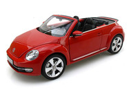 Kyosho 1/18 Scale 2012 Volkswagen New Beetle Convertible Tornado Red Diecast Car Model 08812