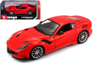 Ferrari F12 TDF Red 1/24 Scale Diecast Car Model By Bburago 26021