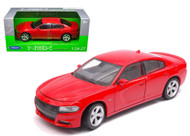 2016 Dodge Charger Red 1/24-27 Scale Diecast Car Model By Welly 24079