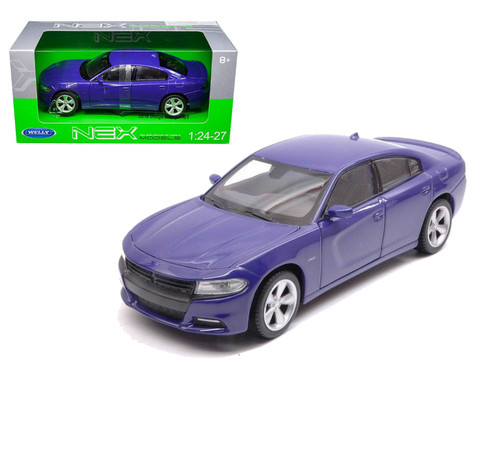 2016 Dodge Charger Purple 1/24-27 Scale Diecast Car Model By Welly 24079