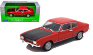 1969 Ford Capri Red 1/24-27 Scale Diecast Car Model By Welly 24069