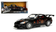 Honda S2000 Johnnys Black Fast & Furious 1/24 Scale Diecast Car Model By Jada 99541