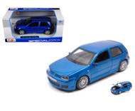 Volkswagen Golf R32 Blue 1/24 Scale Diecast Car Model By Maisto 31290