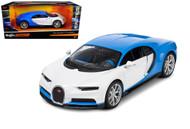 Bugatti Chiron Blue & White Exotics 1/24 Scale Diecast Car Model By Maisto 32509