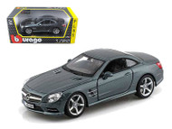 Mercedes SL 500 Coupe Grey 1/24 Scale Diecast Car Model By Bburago 21067