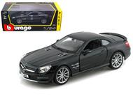 Mercedes Benz SL65 AMG Black 1/24 Scale Diecast Car Model By Bburago 21066