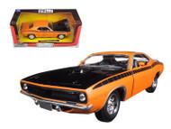 1970 Plymouth Cuda Orange 1/24 Scale Diecast Car Model By Newray 71875