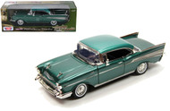 1957 Chevrolet Bel Air Hard Top Green 1/18 Scale Diecast Car Model By Motor Max 73180