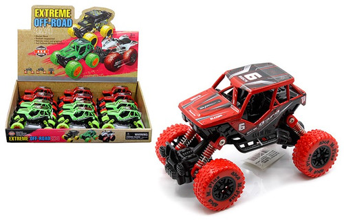 "Extreme Monsters Off Road Rock Climber Racer Box Of 12 5.5"" Long Pull Back"
