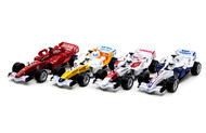 "Formula 1 F1 Cars Box Of 6 7"" Long Pull Back Action Assortment"