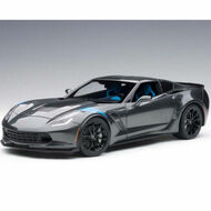 2017 Chevrolet Corvette Grand Sport Grey Blue Fender Hash Marks 1/18 By AUTOart 71272
