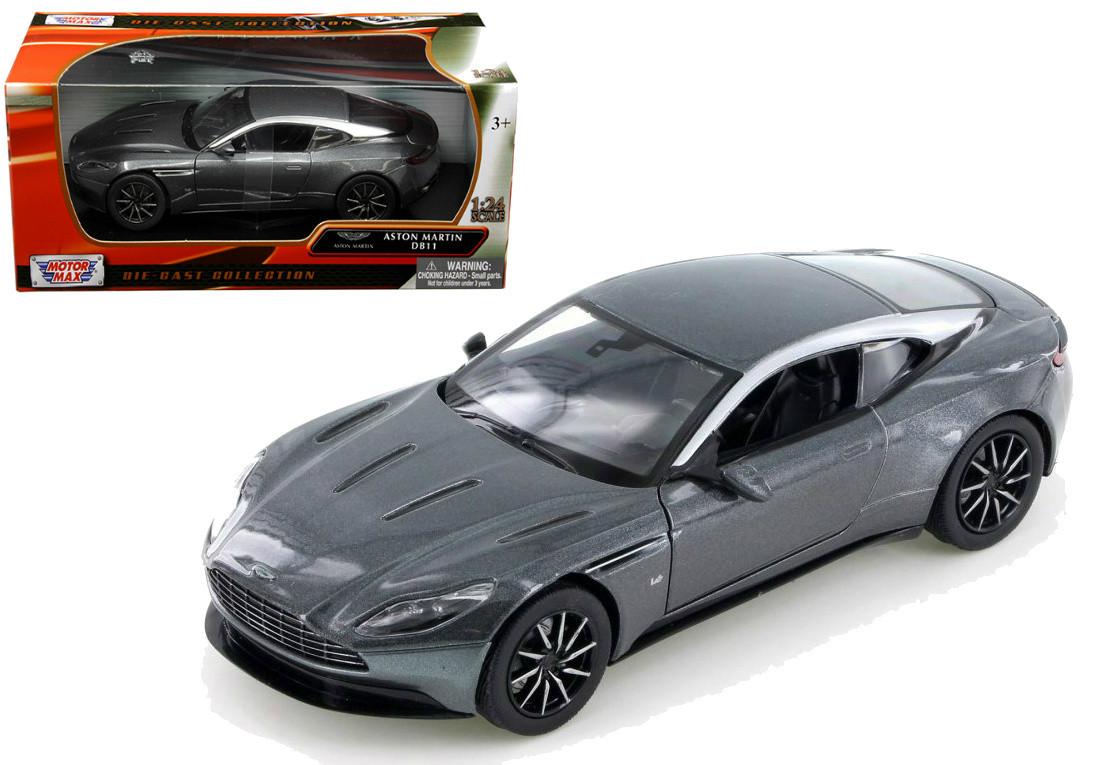 aston martin db11 silver 1/24 scale diecast car modelmotor max