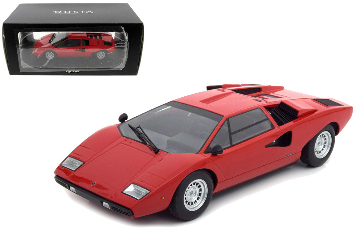 Lamborghini Countach Lp400 Red 1 18 Scale Diecast Car Model By