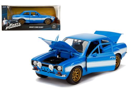 Brian's Ford Escort MK1 Fast & Furious 6 1/24 Scale Diecast Car By Jada 99572
