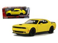 2018 Dodge Challenger SRT Hellcat Widebody Yellow 1/24 Diecast By Motor Max 79350