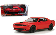 2018 Dodge Challenger SRT Hellcat Widebody Red 1/24 Diecast By Motor Max 79350