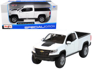 2017 Chevrolet Colorado ZR2 Truck White 1/27 Scale Diecast Model By Maisto 31517
