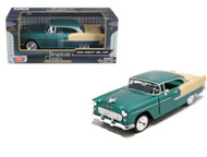 1955 Chevrolet Bel Air Green 1/24 Scale Diecast Car Model By Motor Max 73229